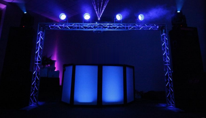 A large mobile disco rig